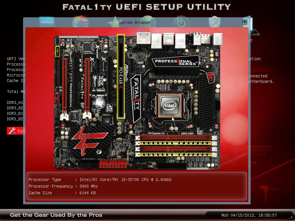 application of motherboard information