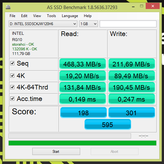 Обзор SSD накопителя Intel 535 Series SSDSCKJW120H601 (M 2