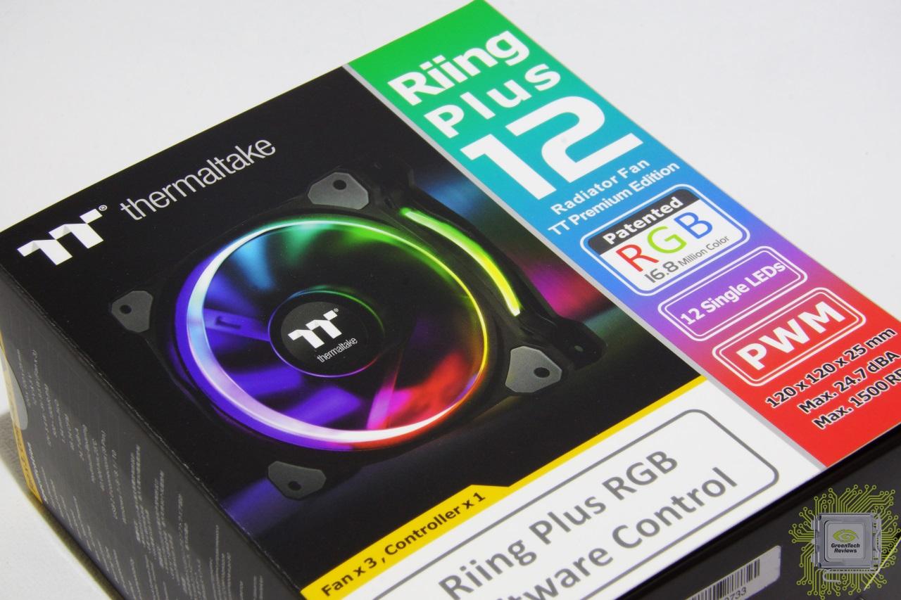 Thermaltake Riing Plus 12 Led Rgb 3 Fans Pack Radiator Fan Tt Premium Edition